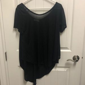 LUSH draping black top.